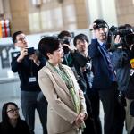 BONIFANTES zpívali guvernérce Tokia Yuriko Koike